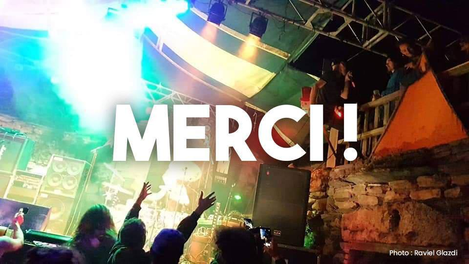 Un grand merci sur fond de As a new revolt au MORDORFEST 2019, Lozère
